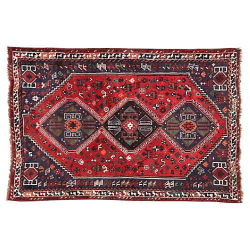 "Persian Shiraz Rug, 5'8"" x 8'1"""