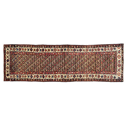 Antique Hamadan Runner, 3'2 x 10'3