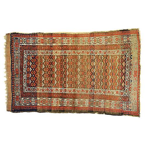 """Antique Persian Sarab Rug, 3'8"""" x 6'1"""""""