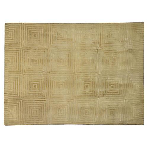 Tibetan Greek Key Wool Rug, 8'7 x 11'4