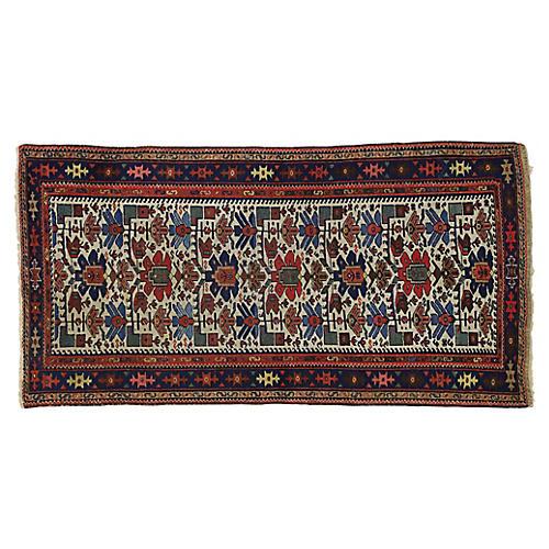 Antique Persian Malayer Rug, 3'4 x 6'5