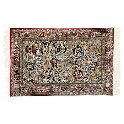 Persian Tabriz Garden Rug, 3'10 x 5'9