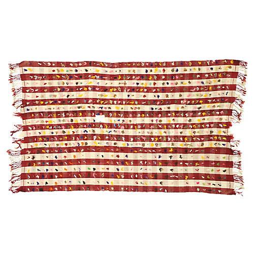 Anatolian Pompom Kilim Rug, 5'2 x 8'3