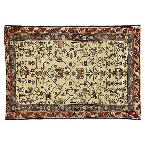 Vintage Turkish Oushak Rug, 3'9 x 5'5