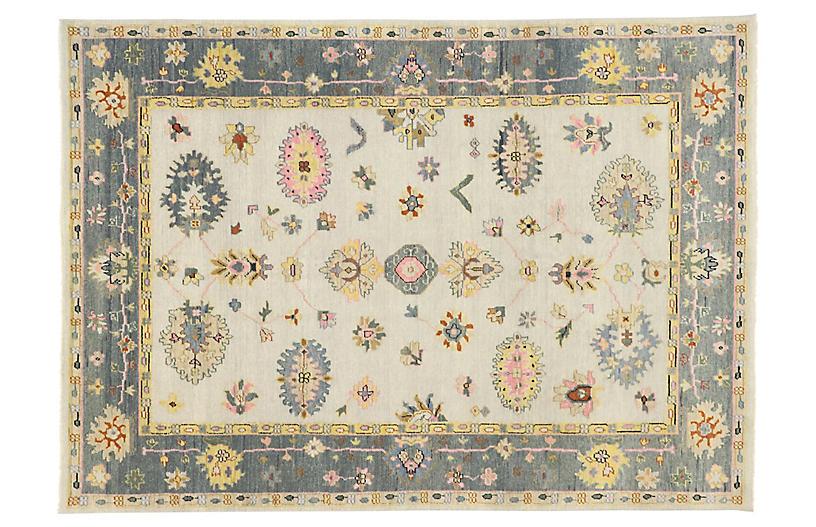 Pastel Oushak Area Rug, 9' x 12'7