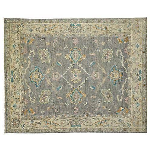 Gray Pastel Oushak Area Rug, 8'3 x 10'3