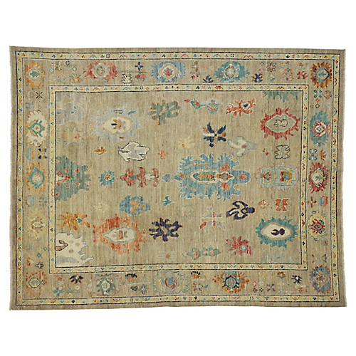 Colorful Oushak Area Rug, 8'1 x 10'2