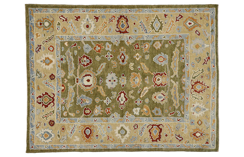 Turkish Oushak Area Rug, 5'4 x 7'