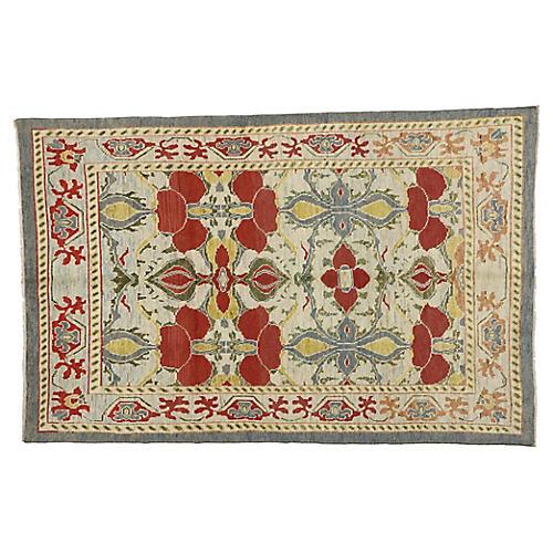 Turkish Oushak Area Rug, 6'4 x 9'8