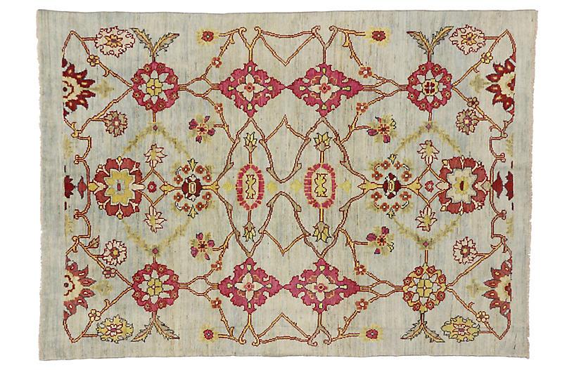 Turkish Oushak Area Rug, 6'8 x 9'5