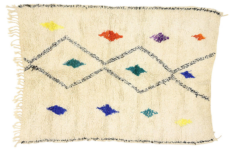Moroccan Azilal Rug, 4'8 x 6'4