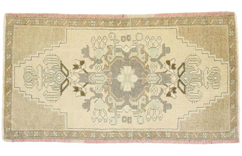 Vintage Turkish Yastik Rug, 1'8 x 2'11