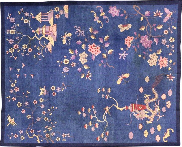 "Chinese Art Deco Rug, 8' x 10'8"""