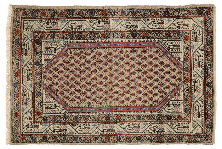 "Hamadan Persian Vintage Rug,3'4"" x 4'10"""