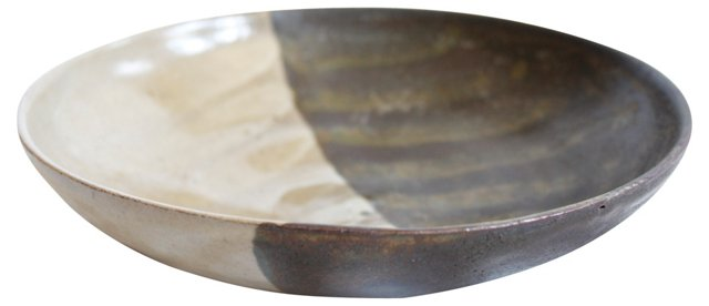 Shallow Glazed Bowl