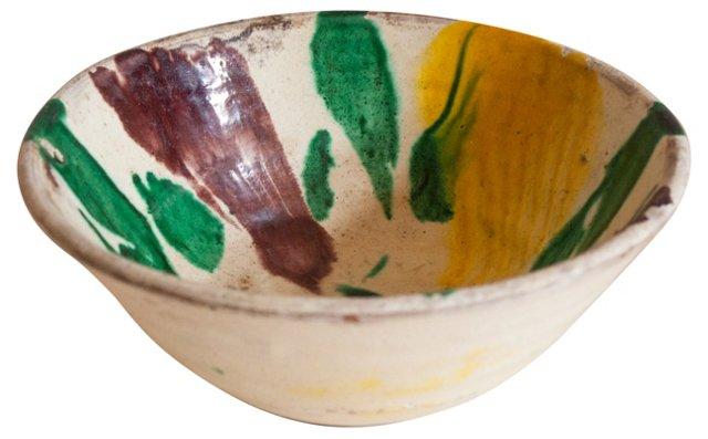 19th-C. Pottery Bowl