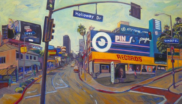 Pins Record Store on Sunset Boulevard