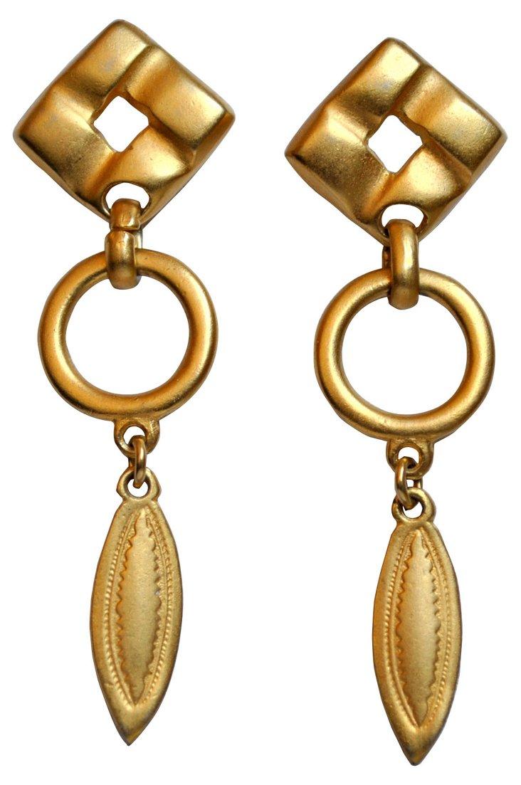 Matte Goldtone Earrings