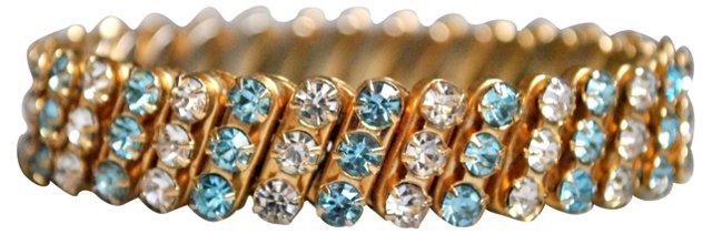 Aqua & Ice Rhinestone Expansion Bracelet