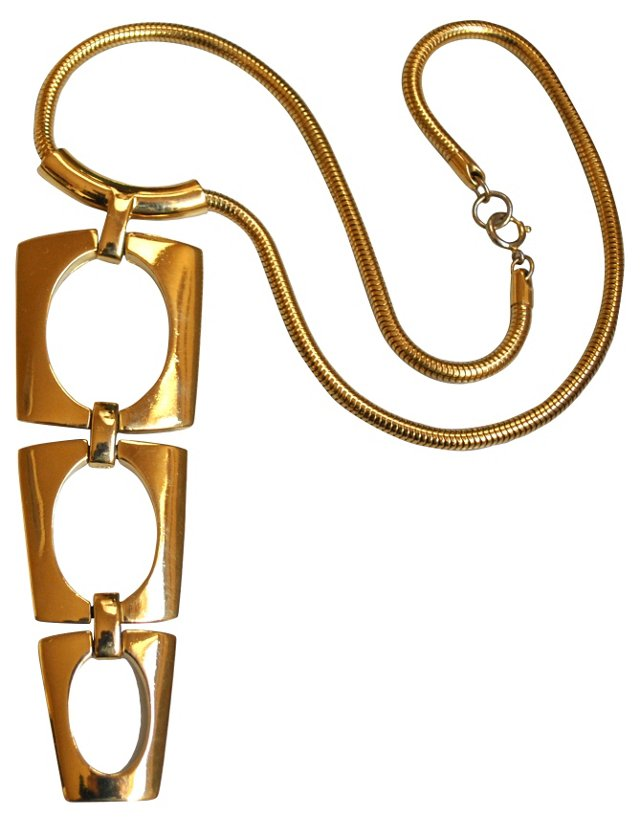 Trifari Modernist Geometric Necklace