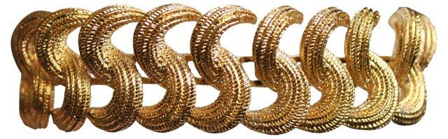 Monet Midcentury Textured Bracelet