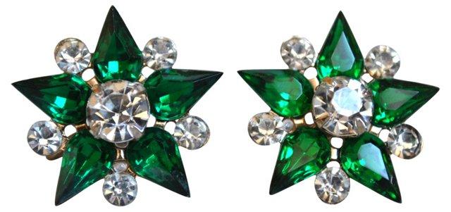Rhinestone Starburst Earrings