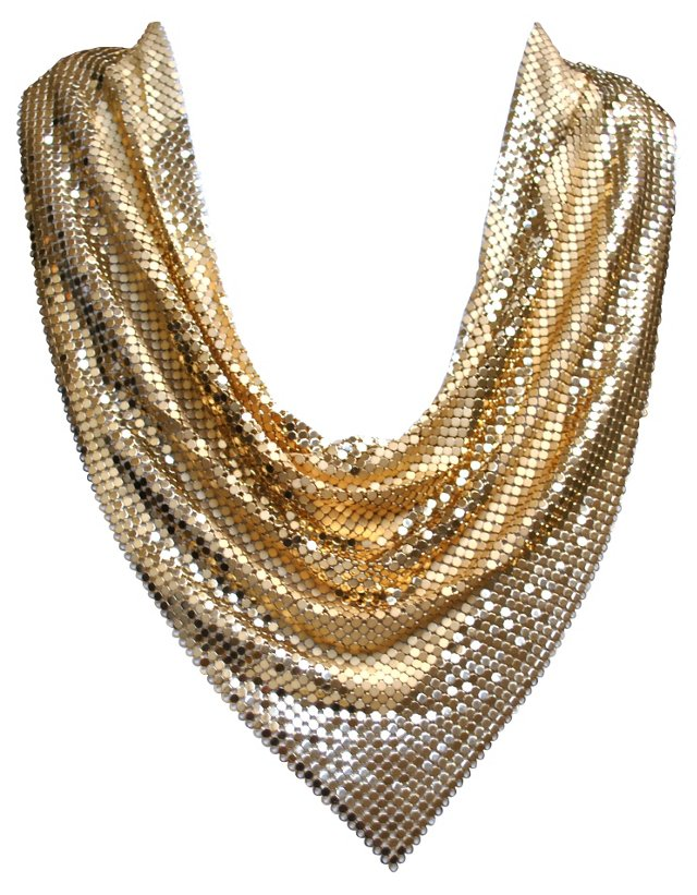 Whiting & Davis Gold Mesh Necklace