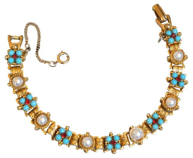 Pearl & Turquoise Bracelet