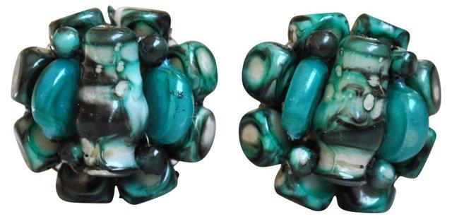 Clustered Art Glass Earrings