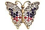 Weiss Rhinestone Butterfly Brooch