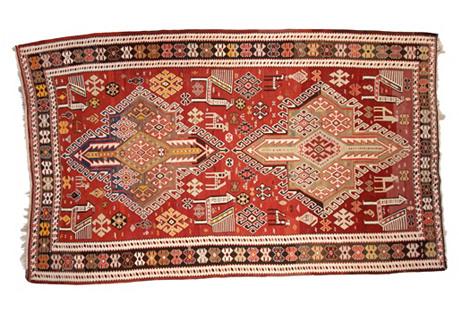 Persian Caucasian Kilim, 6'6