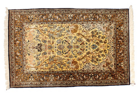 Persian Silk Ghom Rug, 3' x 5'