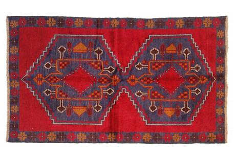 Tribal Baluchi Rug, 4' x 6'