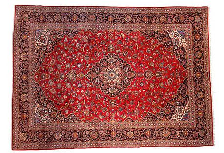 Persian Kashan Rug, 9'10