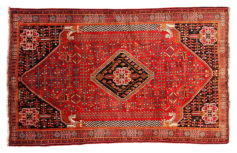 Persian Shiraz Rug, 5' x 8'1