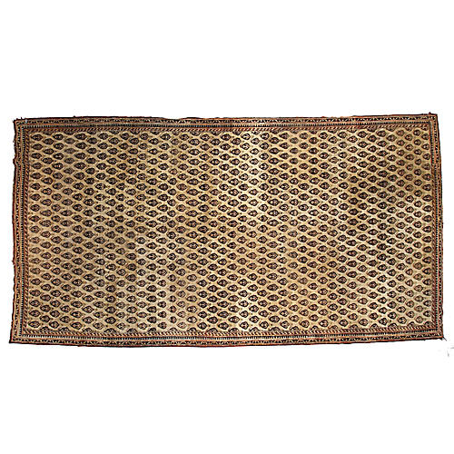 """Hand-Knotted Agra Rug, 8'2"""" x 15'6"""""""