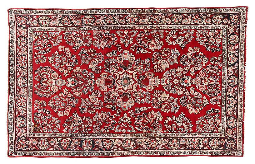 Antique Sarouk Rug, 4'5