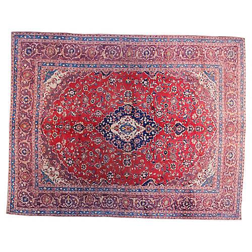 "9'6"" x 12'3"" Vintage Persian Rug"