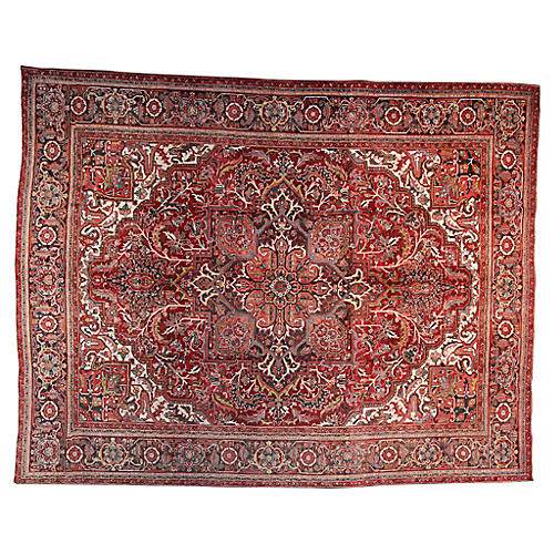 "9'3"" x 12'3"" Vintage Persian Rug"
