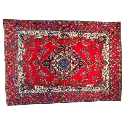 """9'3"""" x 13'3"""" Vintage Tabriz Rug"""