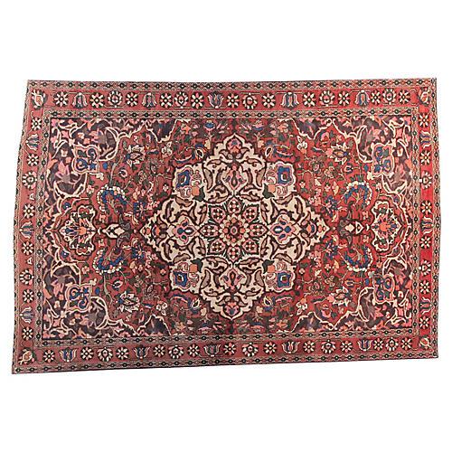 "6'5"" x 9'9"" Vintage Persian Rug"