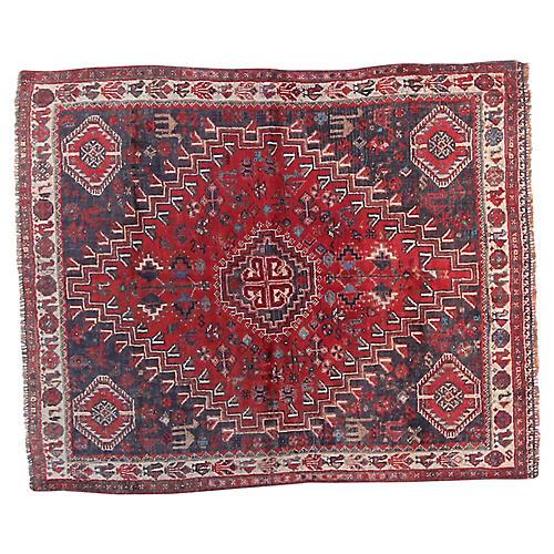 "4'3"" x 4'9"" Vintage Persian Rug"