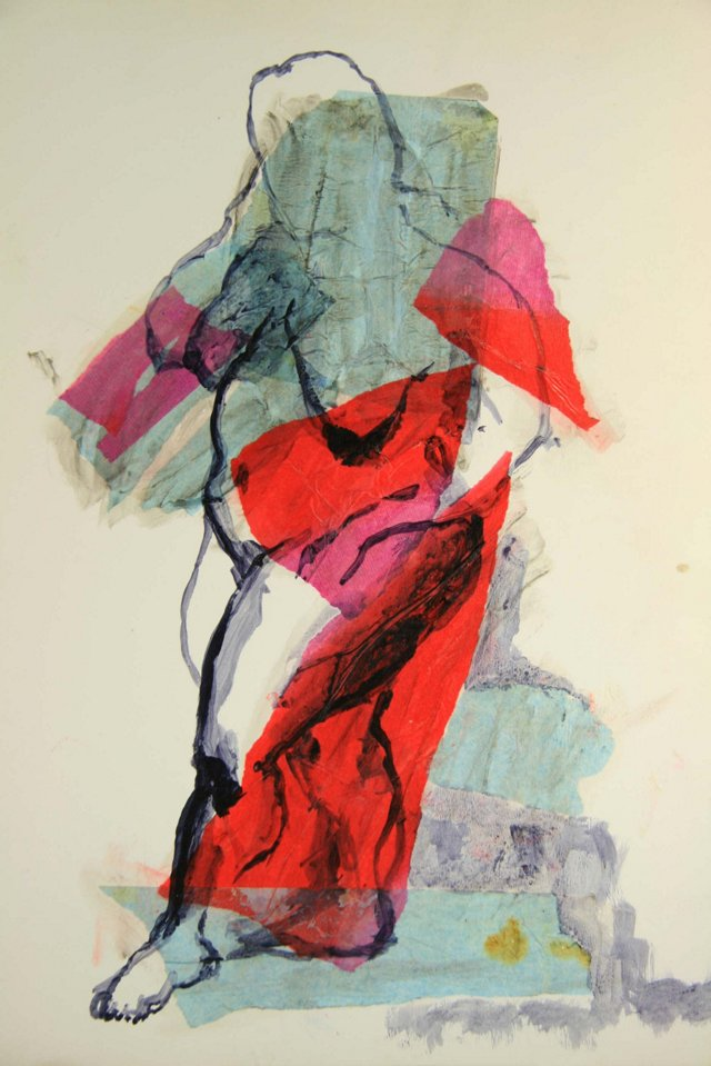 Collage Portrait of a Woman