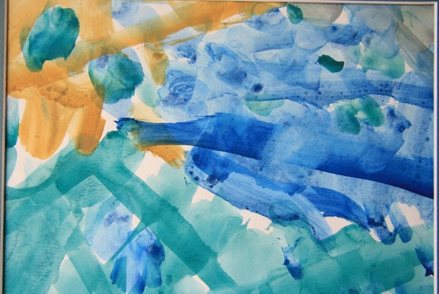 Blue Brush Watercolor