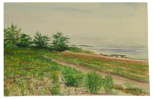 South Hampton Shores  Watercolor