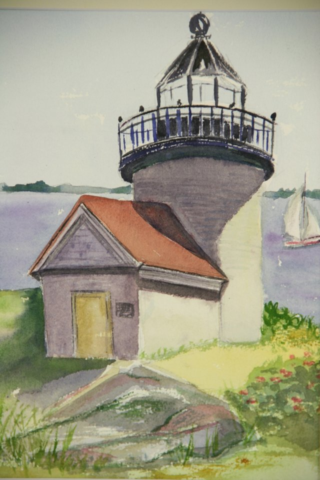 New England Lighthouse Watercolor