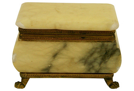 Alabaster & Brass Box