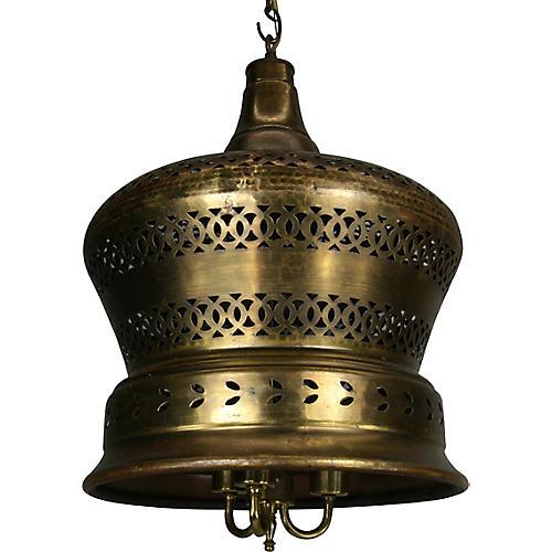 Pierced Brass Pendant