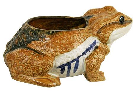 Italian Frog Planter