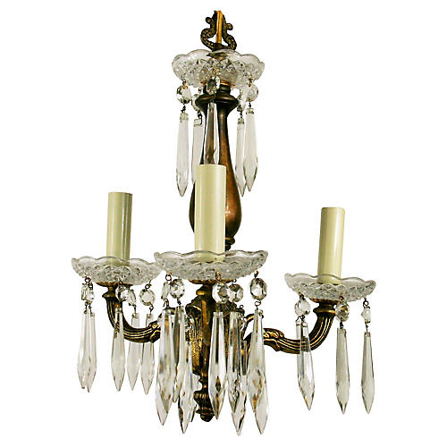 Petite Crystal Prisms Chandelier